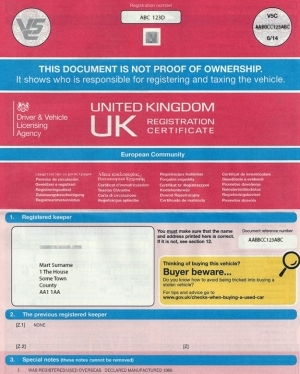 Get Replacement Car Registration Document